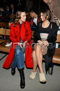 Alexa Chung and Iris Law at the Burberry February 2018 show.jpg