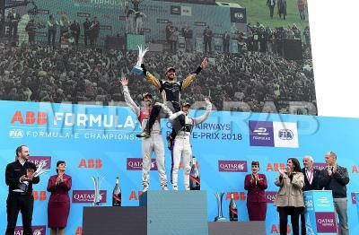 Jean-Eric Vergne celebrates with Lucas di Grassi (left) and Sam Bird (right).jpg